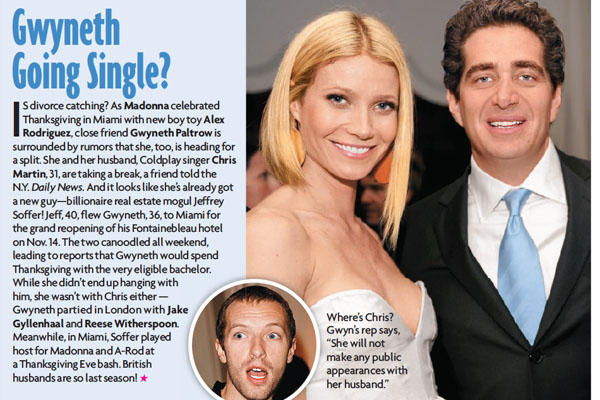 Gwyneth and Jeffrey Soffer in the Dec. 15, 2008 issue of Star