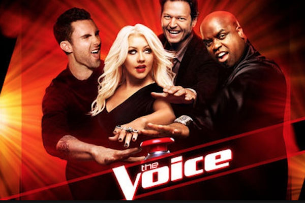 Adam Levine, Christina Aguilera, Blake Shelton & CeeLo Green