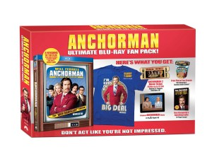 Anchorman: Legend of Ron Burgundy 'Rich Mahogany' Edition Blu-ray Giftset