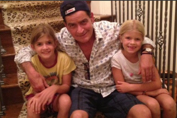 Charlie Sheen & daughters
