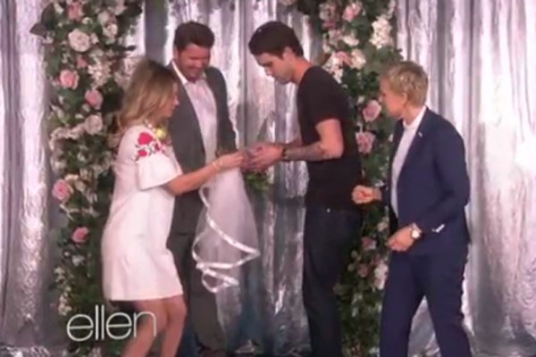 Kaley Cuoco, Ryan Sweeting & Ellen DeGeneres