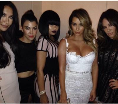 Naya Rivera, Kourtney Kardashian, Blac Chyna, Kim Kardashian & Robin Antin