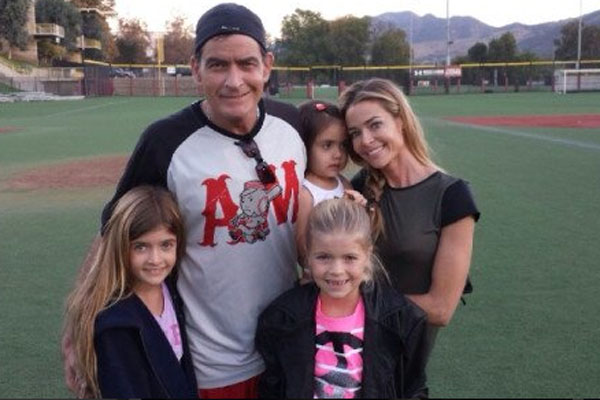 Charlie Sheen, Denise Richards & Family