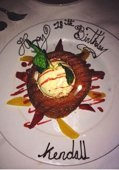 Kendall Jenner dessert