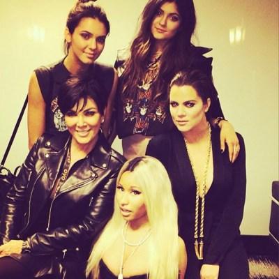 Kendall Jenner, Kylie Jenner, Kris Jenner, Khloe Kardashian & Nicki Minaj