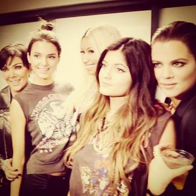 Kris Jenner, Kendall Jenner, Nicki Minaj, Kylie Jenner & Khloe Kardashian