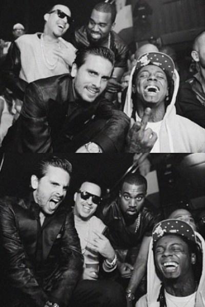 Scott Disick, Kanye West & Lil Wayne