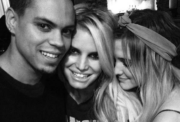 Evan Ross, Jessica SImpson & Ashlee SImpson