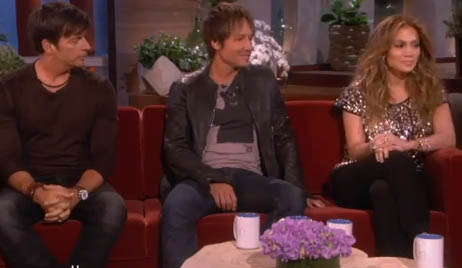 Harry Connick Jr., Keith Urban & Jennifer Lopez