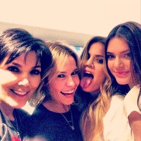 Kris Jenner, Chelsea Handler, Khloe Kardashian & Kendall Jenner