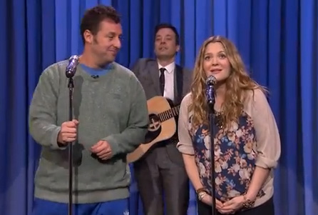 Adam Sandler, Jimmy Fallon & Drew Barrymore