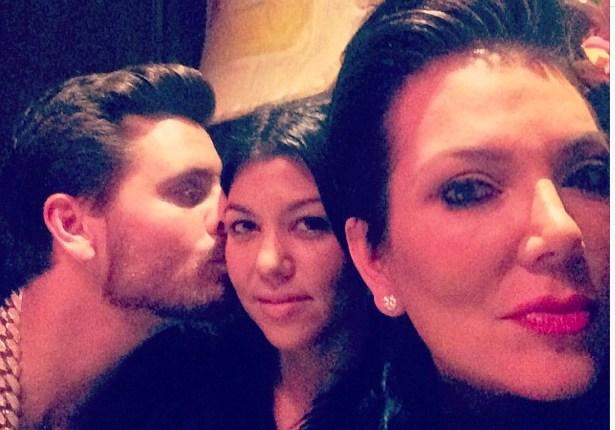 Scott Disick, Kourtney Kardashian & Kris Jenner