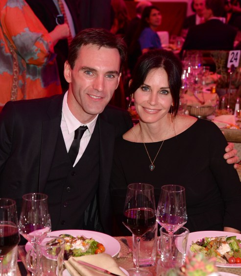 Courteney Cox and boyfriend Johnny McDaid attend an Evening of Environmental Excellence presented by The UCLA Institute Of The Environment And Sustainability in Los Angeles, California.   Photo by Jason Merritt/Getty Images for UCLA