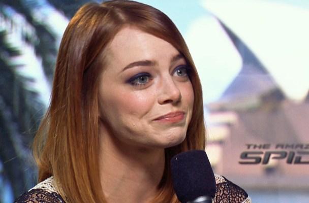 EMMA STONE crying