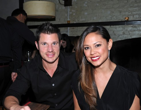 Nick and Vanessa Lachey enjoyed a date night at the Stanton Social in New York City on Mar. 26, 2014.