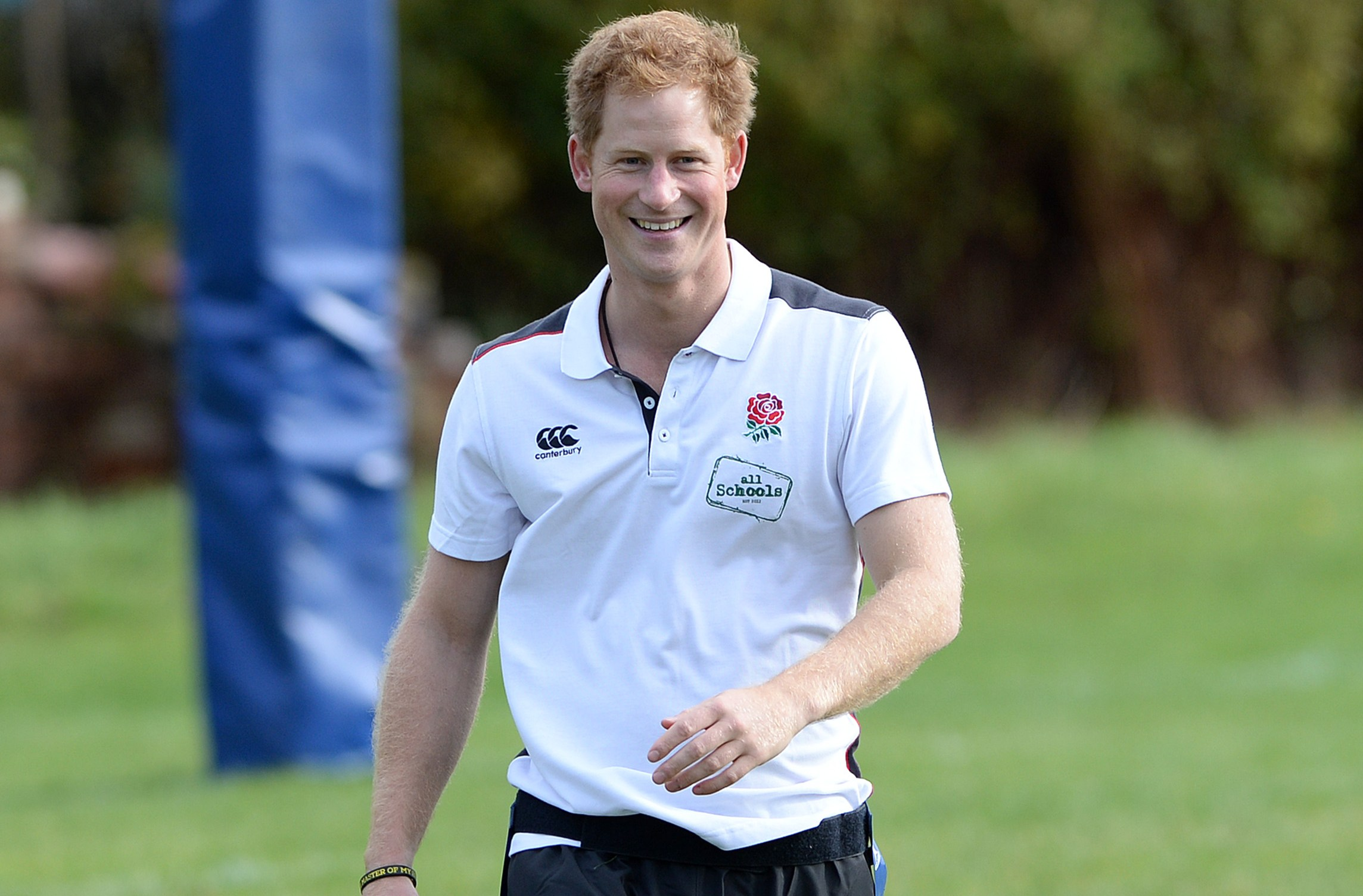 Prince Harry joins a teacher training session and rugby festival at Eccles RFC