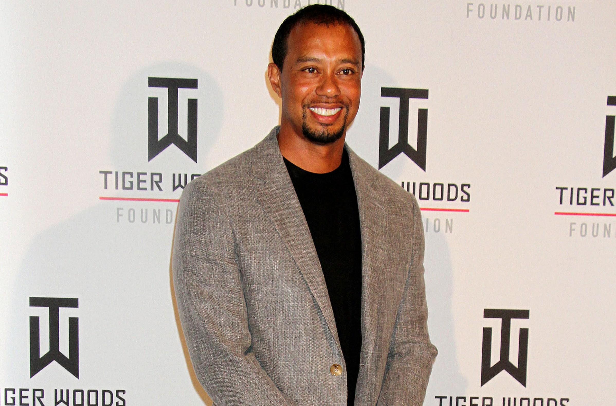 Tiger Woods Flirting