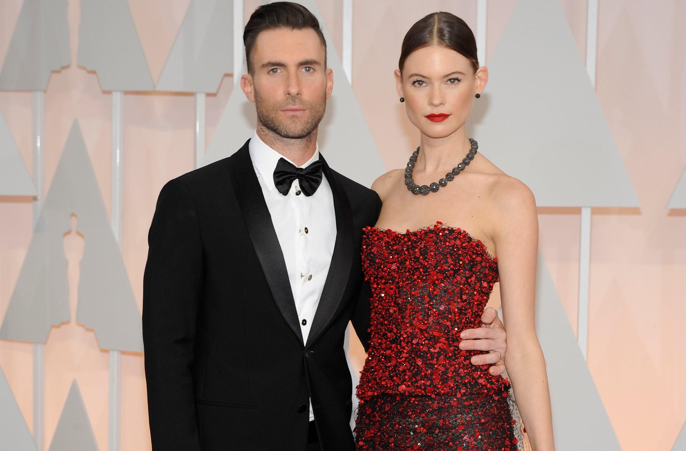 Adam Levine, Behati Prinsloo Oscars