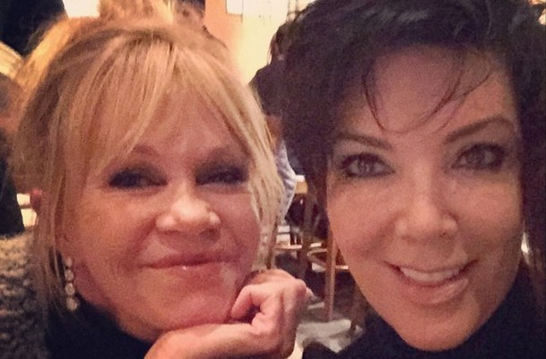 Kris Jenner and Melanie Griffith Desperate Friendship