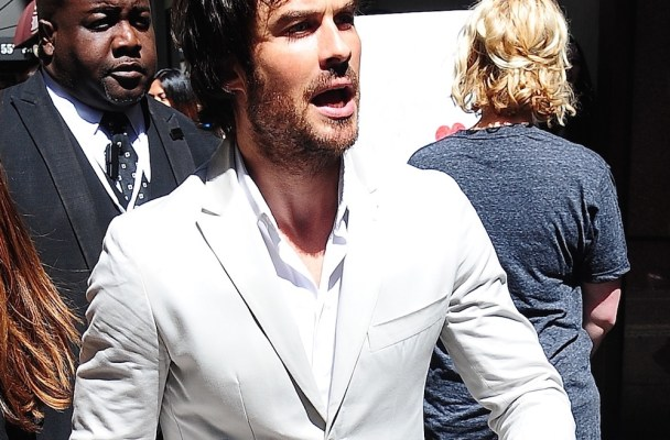 Ian Somerhalder at the Upfronts event in NYC