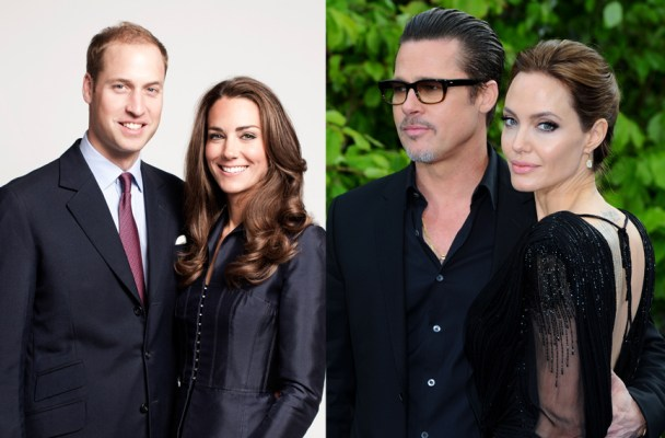 Anthony Harvey/Getty (Brad & Angelina)/Chris Jackson/Getty for St James's Palace (Prince William & Kate Middleton)