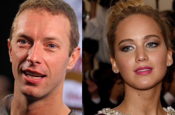 Isaac Brekken/Getty (Chris Martin); Dimitrios Kambouris/Getty (Jennifer Lawrence)