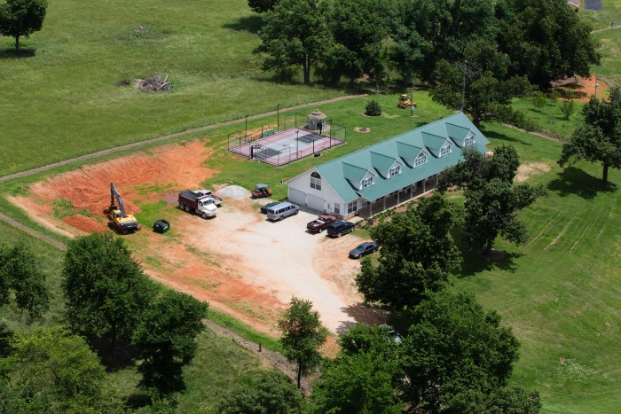 EXCLUSIVE: Aerial views of the Duggar family compound in Tontitown,Arkansas.
