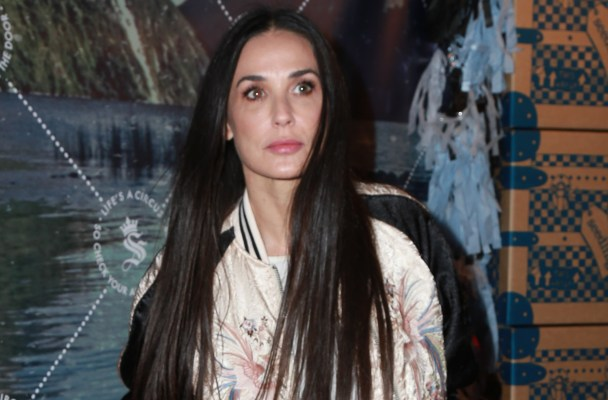 Actress Demi Moore supports good friend Soleil Moon Frye (Punky Brewster ) at the launch of Soleil's Seedling company headquarters in  LA's Art District, Seedling