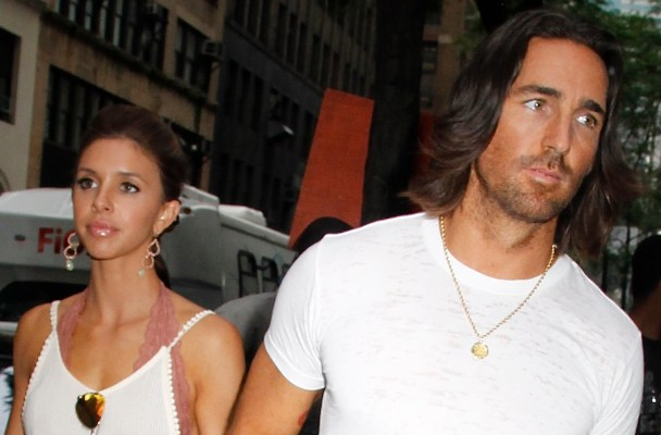 Country singer Jake Owen and wife Lacey Buchanan leave the 'Today' show studios in NYC.  Pictured: Lacey Buchanan and Jake Owen Ref: SPL801471  140714   Picture by: Fortunata/Splash News  Splash News and Pictures Los Angeles:	310-821-2666 New York:	212-619-2666 London:	870-934-2666 photodesk@splashnews.com