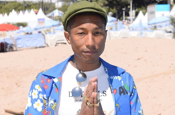 Photocall for film 'Dope' in Cannes, France.  Pictured: Pharrell Williams Ref: SPL1034222  220515   Picture by: Splash News  Splash News and Pictures Los Angeles:	310-821-2666 New York:	212-619-2666 London:	870-934-2666 photodesk@splashnews.com