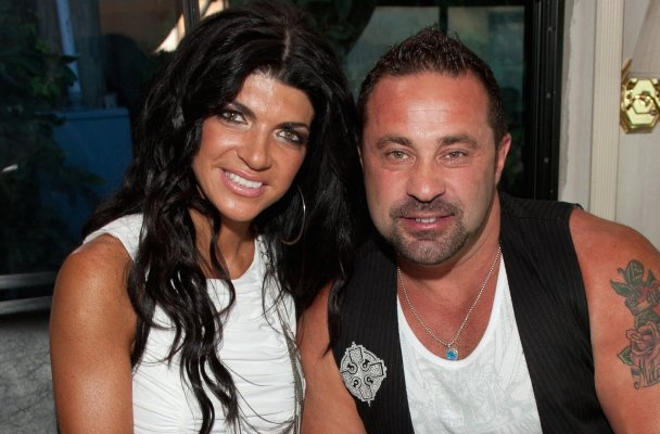 FARMINGVILLE, NY - AUGUST 20:  Teresa Giudice and Joe Giudice attend Beatstock 2011 at Brookhaven Amphitheater on August 20, 2011 in Farmingville, New York.  (Photo by Dave Kotinsky/FilmMagic)