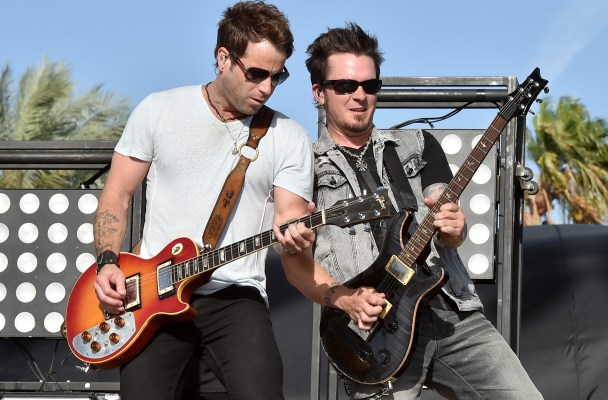 INDIO, CA - APRIL 24:  Parmalee performs onstage during day one of 2015 Stagecoach, California's Country Music Festival, at The Empire Polo Club on April 24, 2015 in Indio, California.  (Photo by Kevin Winter/Getty Images for Stagecoach)