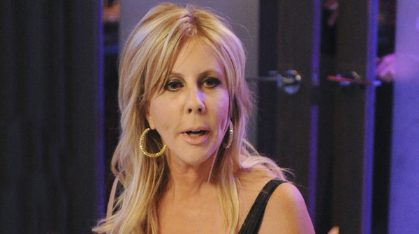 "THE REAL HOUSEWIVES OF ORANGE COUNTY -- ""What's New, Pussycat?"" Episode 711 -- Pictured: (l-r) Brooks Ayers, Vicki Gunvalson, Tamra Barney -- (Photo by: Martin LePire/Bravo/NBCU Photo Bank)"