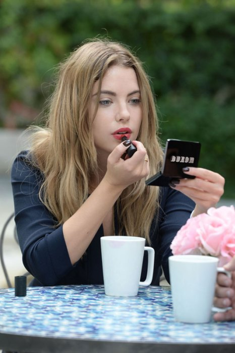 Ashley Benson Touches Up Her Look With Buxom Bold GelLipstick