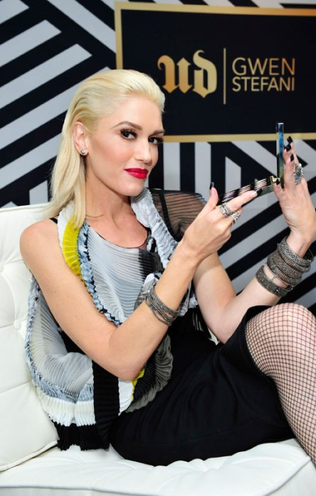 Gwen Stefani at the launch event for her collaboration with Urban DecayCosmetics