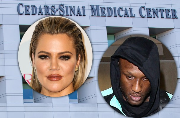 General views of Cedar Sinai Medical Center in Los Angeles, CA where Lamar Odom is receiving treatment.   Ref: SPL1156005  201015   Picture by: VIPix / Splash News  Splash News and Pictures Los Angeles:	310-821-2666 New York:	212-619-2666 London:	870-934-2666 photodesk@splashnews.com