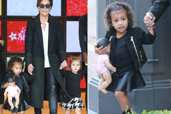 West Hollywood, CA - Kris Jenner is on grandma duty and takes North West and Penelope Disick shopping at The American Girl Doll Shop, later she takes them to see Santa to give him their holiday wish list.    AKM-GSI       November 23, 2015    To License These Photos, Please Contact :    Steve Ginsburg  (310) 505-8447  (323) 423-9397  steve@akmgsi.com  sales@akmgsi.com    or    Maria Buda  (917) 242-1505  mbuda@akmgsi.com  ginsburgspalyinc@gmail.com