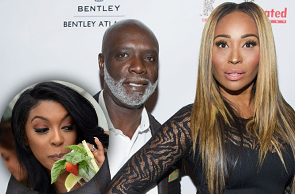 """ATLANTA, GA - SEPTEMBER 29:  Peter Thomas and Cynthia Bailey attend """"Unnecessary Trouble"""" video debut party at Time Restaurant on September 29, 2015 in Atlanta, Georgia.  (Photo by Marcus Ingram/Getty Images)"""