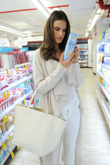 Alessandra Ambrosio Spotted Picking Up Jergens Wet SkinMoisturizer