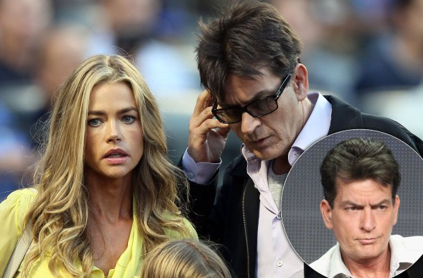 charlie sheen hiv positive denise richards child support