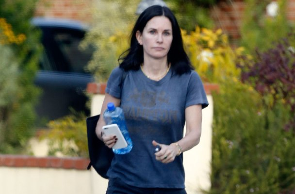 Courteney Cox Photos -- Actress Visits Mystery Man After Breakup With Fiancé