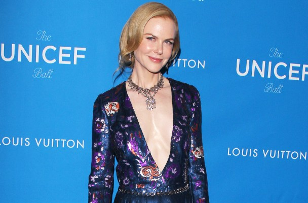 Top Fashion at the 2016 UNICEF Ball - Beverly Hills  Pictured: Nicole Kidman Ref: SPL1208155  130116   Picture by: Jen Lowery / Splash News  Splash News and Pictures Los Angeles:	310-821-2666 New York:	212-619-2666 London:	870-934-2666 photodesk@splashnews.com