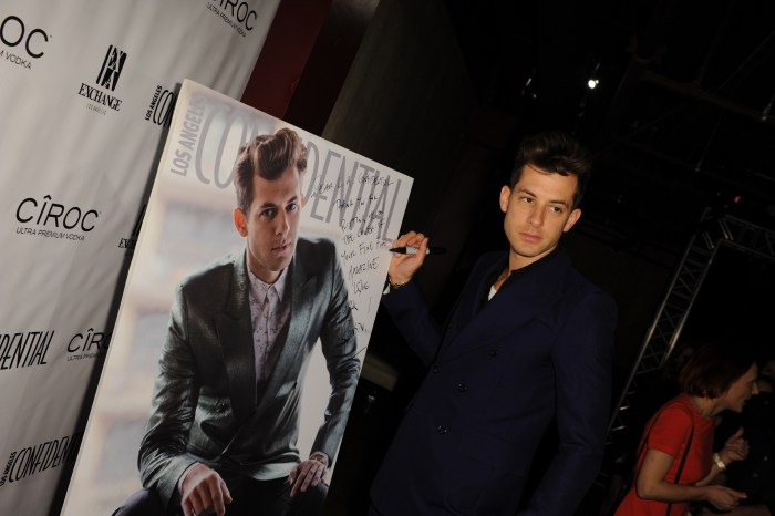 Los Angeles Confidential Magazine Celebrates The Grammys With Cover Star Mark Ronson At Exchange LA, Powered By CIROC UltraPremiumVodka