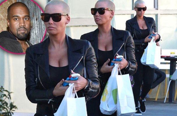 amber rose kanye west feud puma yeezy photos