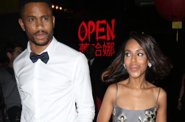 Rihanna's Met Gala party sightings in NYC.  Pictured: Kerry Washington and Nnamdi Asomugha Ref: SPL1017358  050515   Picture by: Splash News  Splash News and Pictures Los Angeles:	310-821-2666 New York:	212-619-2666 London:	870-934-2666 photodesk@splashnews.com