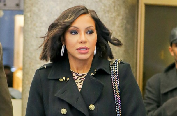Tamar Braxton seen carrying her Chanel hadbag as leaving the NBC studios in New York City  Pictured: Tamar Braxton Ref: SPL1225660  110216   Picture by: Felipe Ramales / Splash News  Splash News and Pictures Los Angeles:	310-821-2666 New York:	212-619-2666 London:	870-934-2666 photodesk@splashnews.com