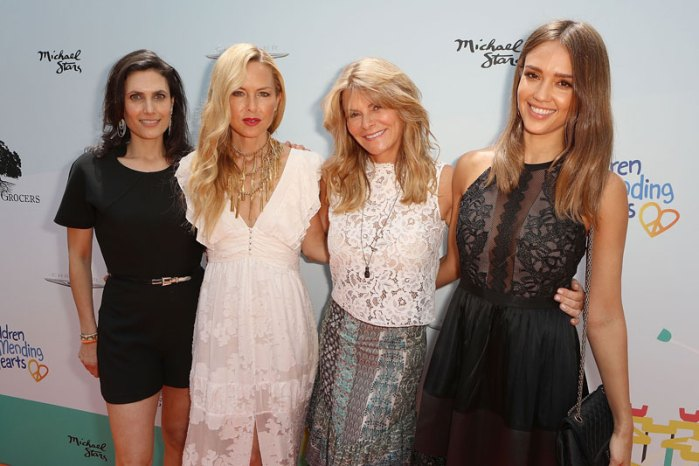 Lainie-Strousse,-Rachel-Zoe,-LysaHeslov-and-Jessica-Alba-at-Children-Mending-Hearts-and-Vintage-Grocers-Presents-the-8th-Annual-'Empathy-Rocks'-1