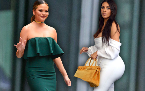 Chrissy Teigen Post Baby Body Jealous Kim Kardashian Pics 7