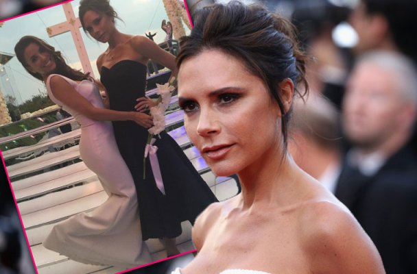 eva longoria victoria beckham wedding dress pics
