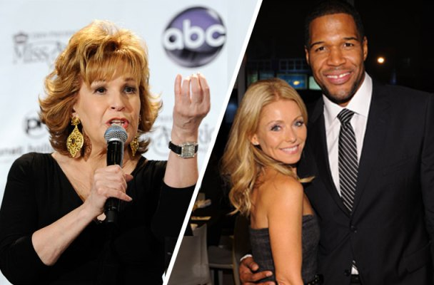 michael strahan kelly ripa live feud joy behar diss the view